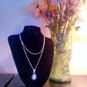 Double layer quartz necklace